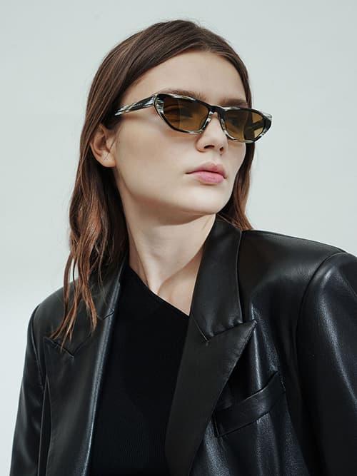 Acetate Cat-Eye Sunglasses, Multi