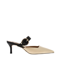 LEATHER BUCKLE STRAP MULES