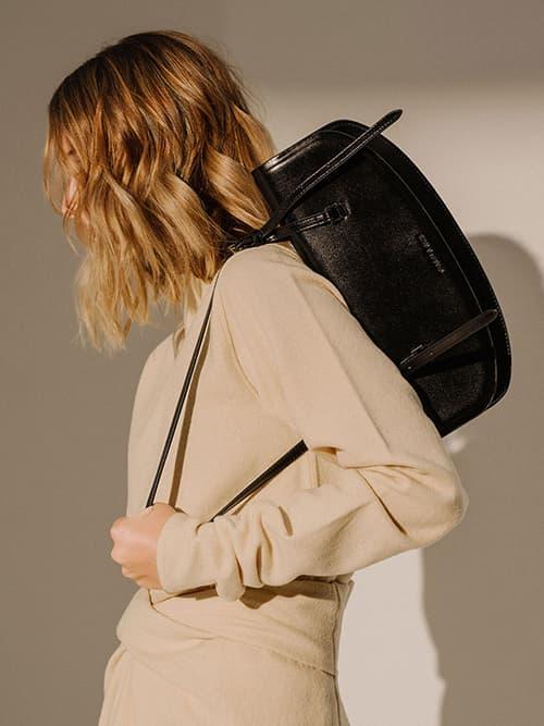 Single Handle Shoulder Bag, Black