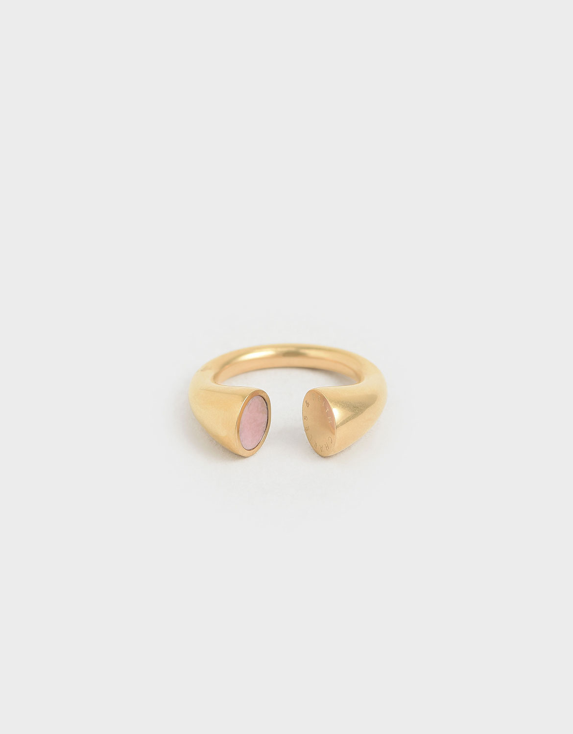 Women's gold Rose Quartz open ring